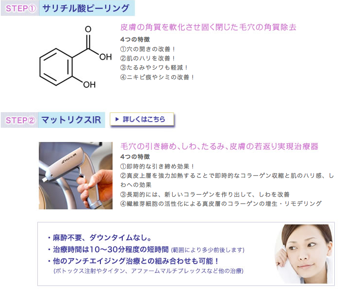 サリチル酸ピーリング・マトリックスIR