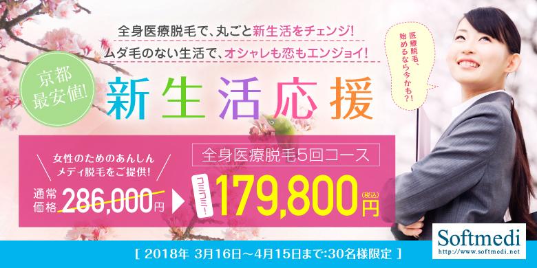 医療脱毛 京都 キャンペーン